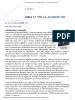 """ConJur - Senso Incomum - Os 10 mandamentos do """"Rei do Camarote"""" (do Direito).pdf"""