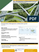 SAP Transportation Management Collaboration Portal - Overview