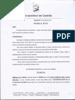 Decreto 097 Reparación Alcantarilla 25 de Mayo y Tucumán