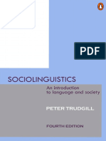 Pdf introducing sociolinguistics