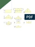 Instrucciones Barco de Papel