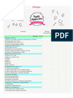 Cronograma de Biologia (Projeto Medica Diva)