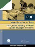 Intensificación en Artes. Crear Tocar Cantar y Escuchar