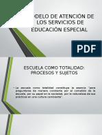 Modelo de Atención de Los Servicios de Educación