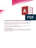 Create Access Ribbon