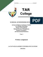 AACS4794 MIS Written Assignmen