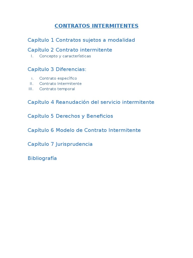 CONTRATOS INTERMITENTES - Índice.docx
