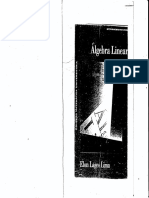 Algebra Linear Elon Lages Lima