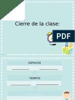 Cierre Clase