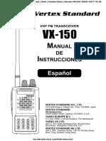 Manual de Usuario Vertex 150 radio transmisor y receptor