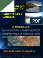 Triangulación, Trilateración, Trazo de Carreteras y Canales