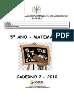 Caderno 2 - 5º Ano - Matemática 2010