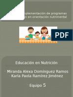 Diseño e Implementación de Programas de Educación En