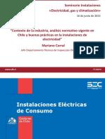 Contexto Industria Analisis Normativo Buenas Practicas Instalaciones Electricidad Mariano Corral SEC1