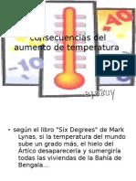 Consecuencias Del Aumento de Temperatura