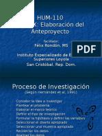 Profesor Rondon Tema 10 Elaboracion del Anteproyecto.ppt