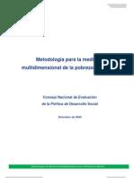 Metodologia Para La Medicion de La Pobreza Multidimensional
