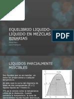 EQUILIBRIO LIQUIDO-LIQUIDO EN MEZCLAS BINARIAS.ppt