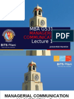 MBA C431 LEC 1 Overview to Managerial Communication.ppt