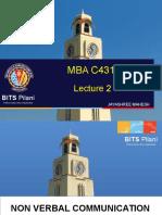 MBA C431 LEC 2 Nonverbal Communication.ppt