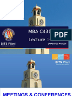 MBA C431 LEC 10 ORGANIZING MEETINGS AND CONFERENCES.ppt