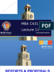 MBA C431 LEC 11 WRITING REPORTS AND PROPOSALS.ppt