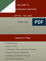 LSP 701 - F16 - Week 2