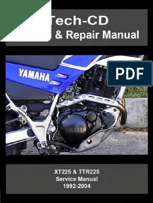 XT225 TTR225 1992-2004 | Motor Oil | Screw