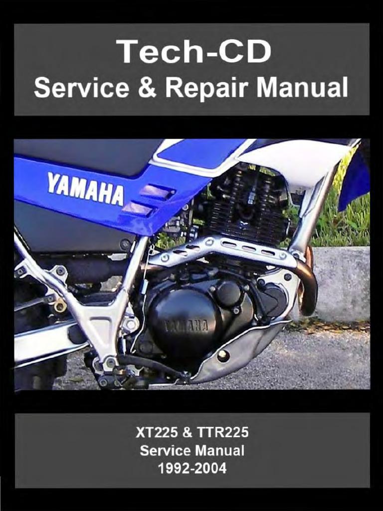 2004 Yamaha Xt225 Wiring Diagram Electrical Diagrams Xs850 Ttr225 1992 Motor Oil Screw 1999 Yzf R1