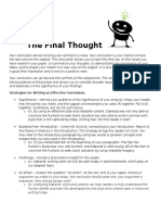 the final thought