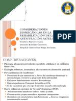 Consideraciones Biomecánicas en La Rehabilitación de La Articulación