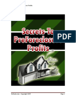 Secrets to PreForeclosure Profits