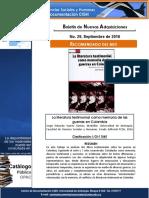 Boletín Nuevas Adquisiciones - Centro de Documentación FCSH septiembre