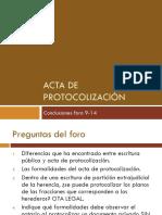 Diferencia Entre Instrumento Publico y Acta de Protocolizacion