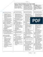 literary argumentative scoring guide