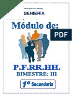 1° AÑO SEC. - PFRH - III BIMESTRE