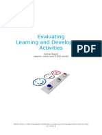 Martin Frano - Evaluating L&D Activities (CIPD Foundation Certificate)