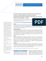 Predictive Value of the Pretreatment Extent of Disease System in Hepatoblastoma Results From the International Society of Pediatric Oncology Liver Tumor Study Group SIOPEL-1 Study