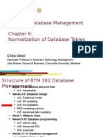 Database Management - Ch 06 Normalization