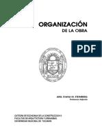 01. Organizacion de La Obra