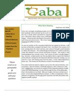 GABA Newsletter 4-10