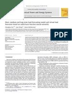 Short Medium and Long Term Load Forecasting Model