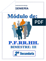 2° AÑO SEC - PFRH III BIM