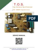 TOS M087B1 Service Manual