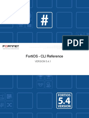 Fortigate CLI Reference manual 5 4 | Booting | Bios