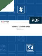 Fortigate CLI Reference manual 5.4