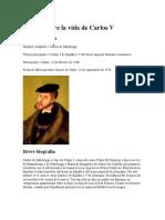 Ensayo Sobre La Vida de Carlos V