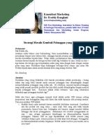 Artikel Meraih Pelanggan Hilang Edisi Juni 2009