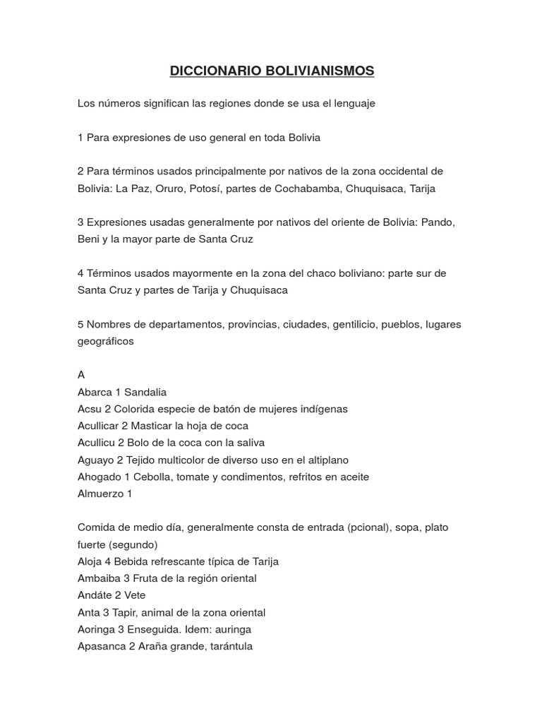 Diccionario Alimentos BolivianismosBolivia De De Diccionario BolivianismosBolivia BolivianismosBolivia Diccionario De Alimentos IeWD2EHY9