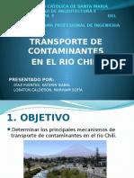 Transporte de Contaminantes en El Rio Chili
